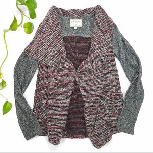 Lucky Brand Sweater Mixed Wrap Size S
